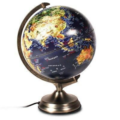 科學館《藍星地球儀》12吋立體三段觸控夜光型地球儀