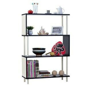 雙色美耐板《Anshome》S型多用途收納系統展示櫃 ( 四層 )