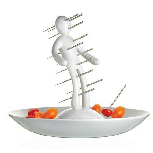 【買1送1】義大利原創設計師Raffaele Iannello不鏽鋼果籤組-白色