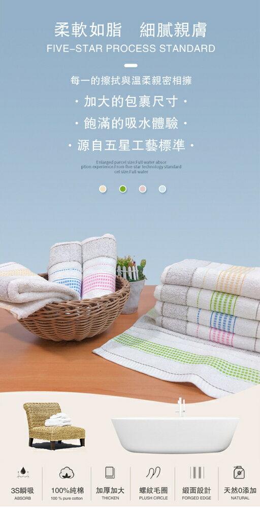 毛巾 浴巾台灣製超激五福色紗吸水毛巾(買六送六)【OKPOLO】