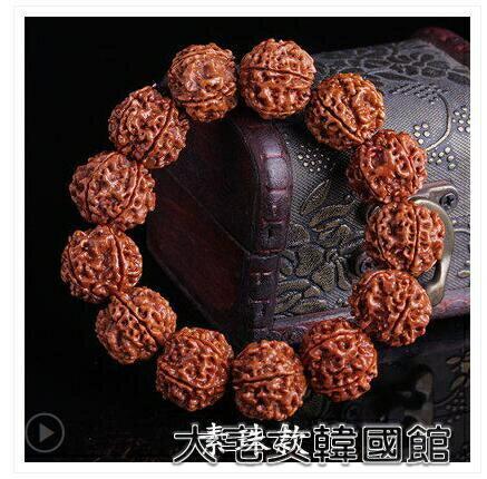 佛珠手串尼泊爾六瓣大金剛菩提手串6瓣爆肉男士單圈佛珠手鍊菩提子 交換禮物
