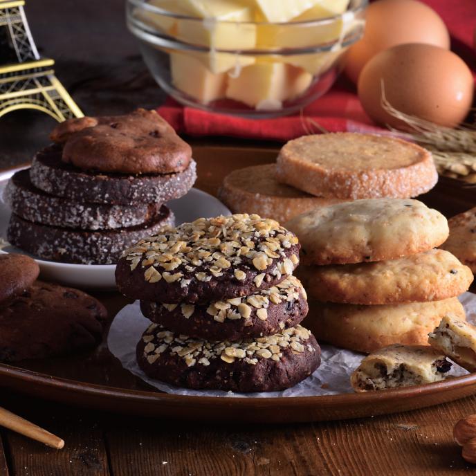 ◆免運◆【食感旅程 Paiatability】綜合餅乾組  60片 6種口味各10片  玫瑰核桃 巧克力燕麥 巧克力核桃 原味鑽石 巧克力鑽石 健康全麥 0
