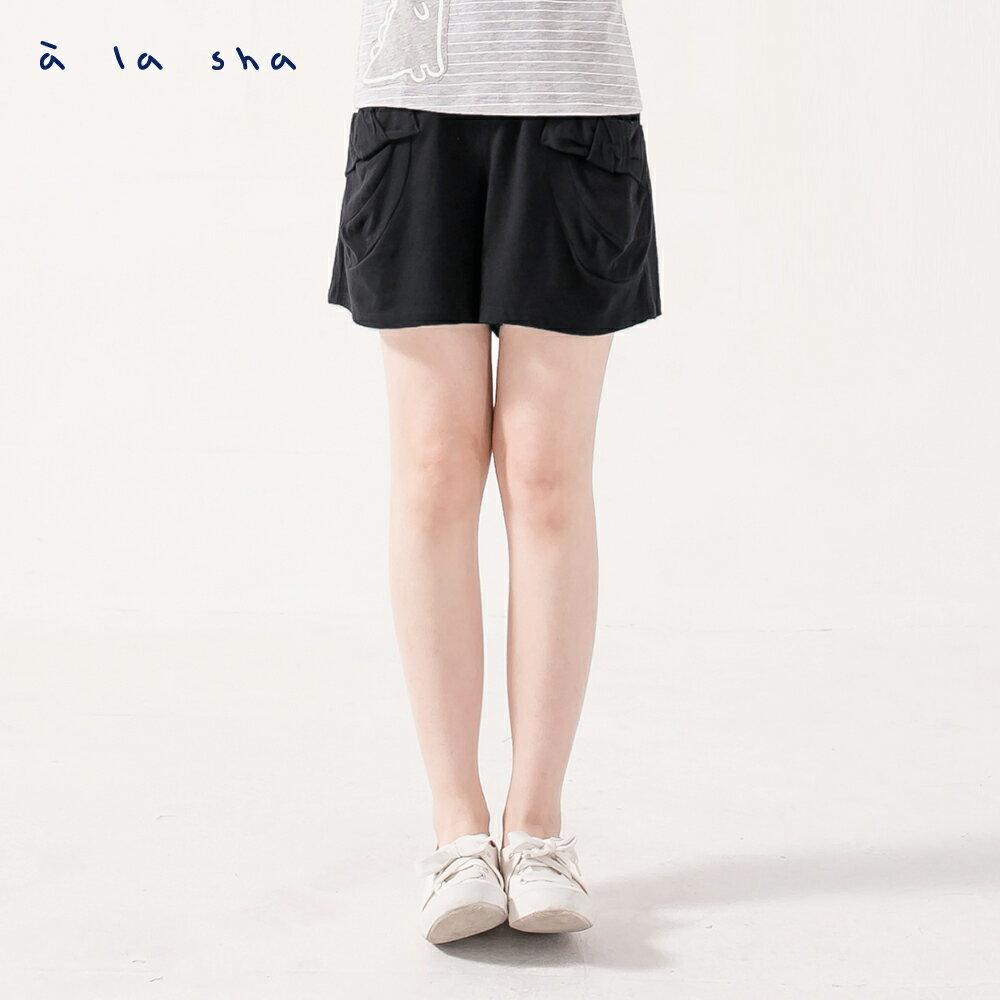 à la sha 蓬蓬口袋立體蝴蝶結短裙褲 0
