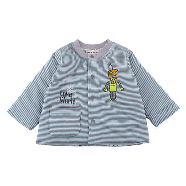 [愛的世界LOVEWORLD]機器人系列 鋪棉兩面穿釘釦外套 6個月~8歲-台灣製-