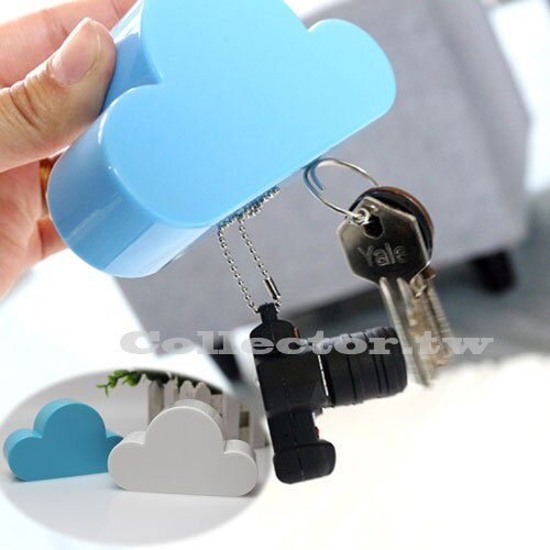 【F16081002】創意可愛雲朵超強磁鐵 鑰匙吸收納器 白雲 鑰匙掛 強力磁鐵收納 生日禮物 居家擺飾必備