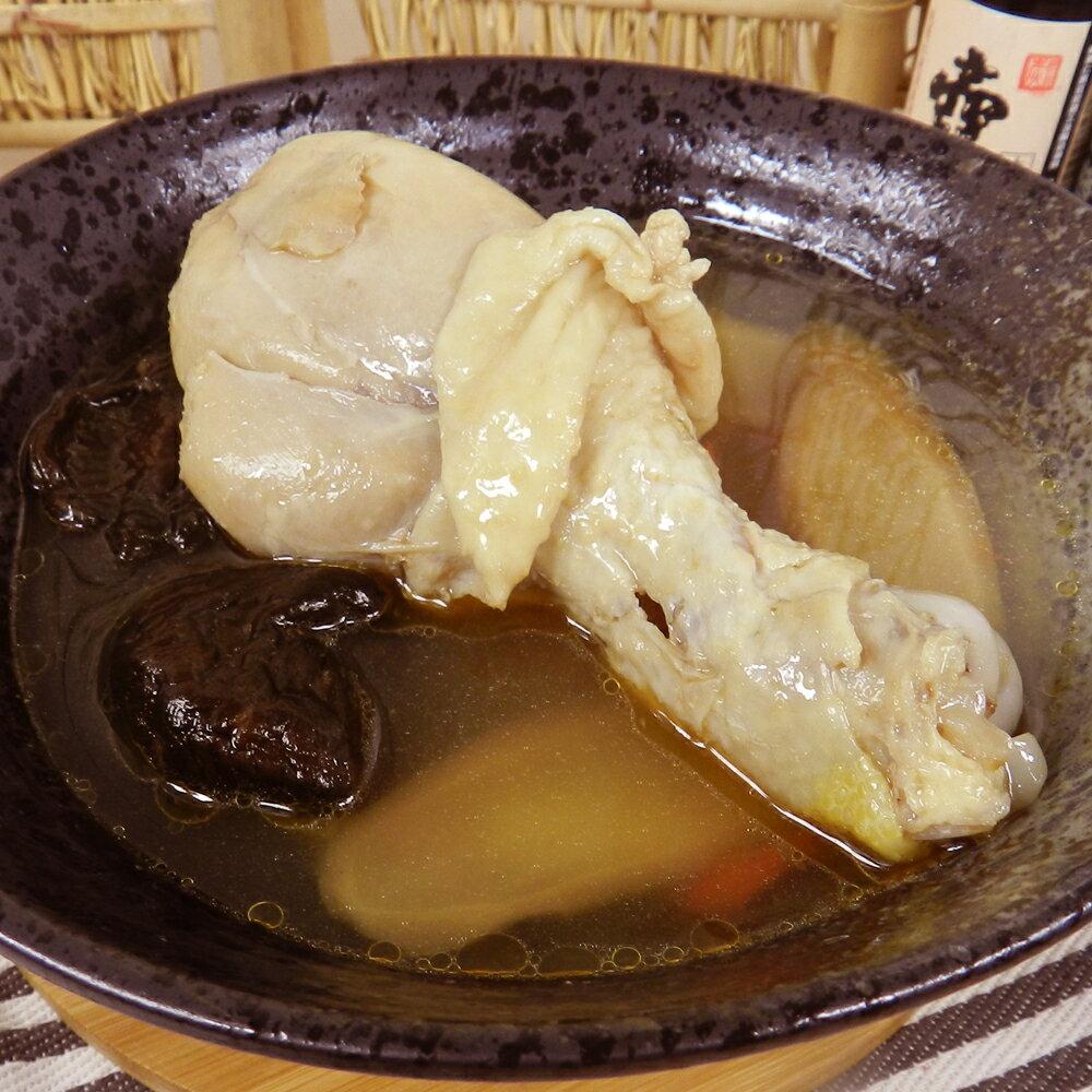 【好神】冬令暖身雞湯8包組(410g±10% / 包)(人參*2,花雕*2,麻油*4) 2