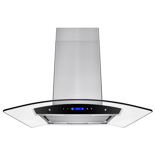 """36"""" Stainless Steel Island Mount Range Hood Touch Screen Cooking Fan Stove Kitchen Vents 0"""