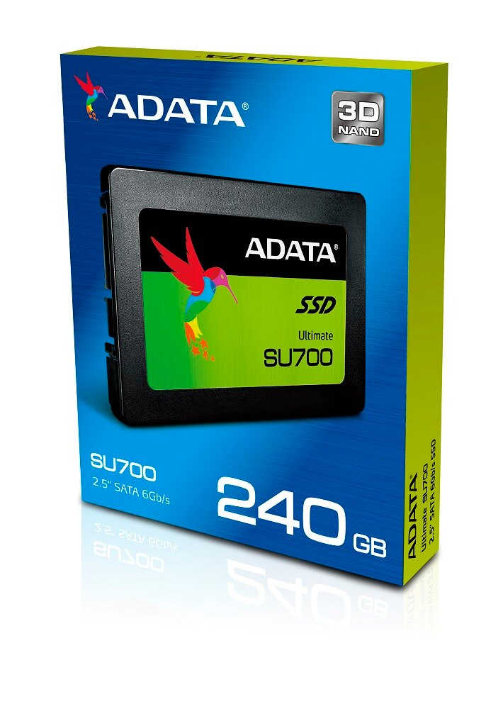"ADATA Ultimate SU700 3D NAND SATA-III 2.5"" Internal SSD 240GB (ASU700SS-240GT-C) 1"