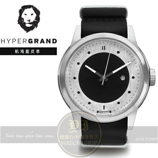 Hypergrand新加坡 前衛 品牌冷鋼系列腕錶~BLACK皮革NWM4BLAC 貨