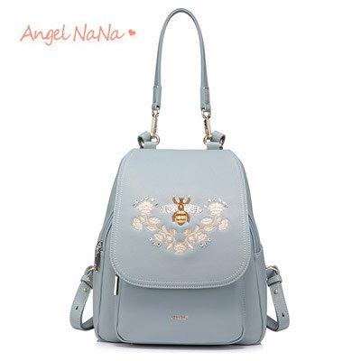 後背包-NUCELLE高質感蜜蜂印記刺繡包側背包AngelNaNa【BA0303】