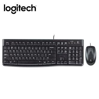 【最高現折$850】【結帳現折$100】Logitech 羅技 MK120 有線鍵盤滑鼠組 黑