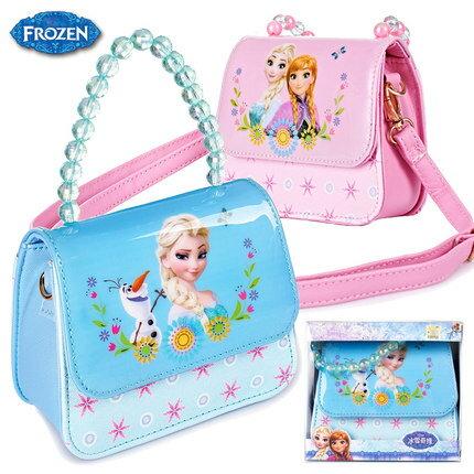 正版Disney迪士尼冰雪奇緣蘇菲亞公主兒童時尚斜背包女童手提包