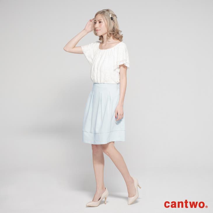 cantwo蕾絲雙層荷葉袖洋裝(共二色) 1