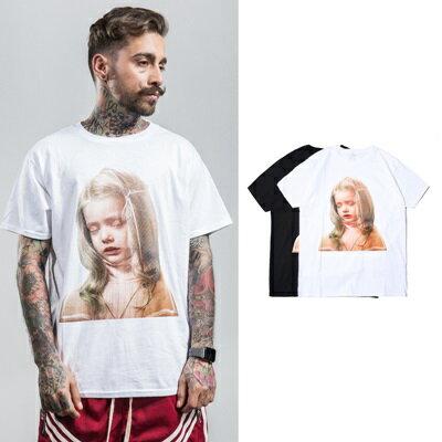 短袖T恤休閒上衣-清秀女孩純色圓領男裝2色73qx50【獨家進口】【米蘭精品】 0