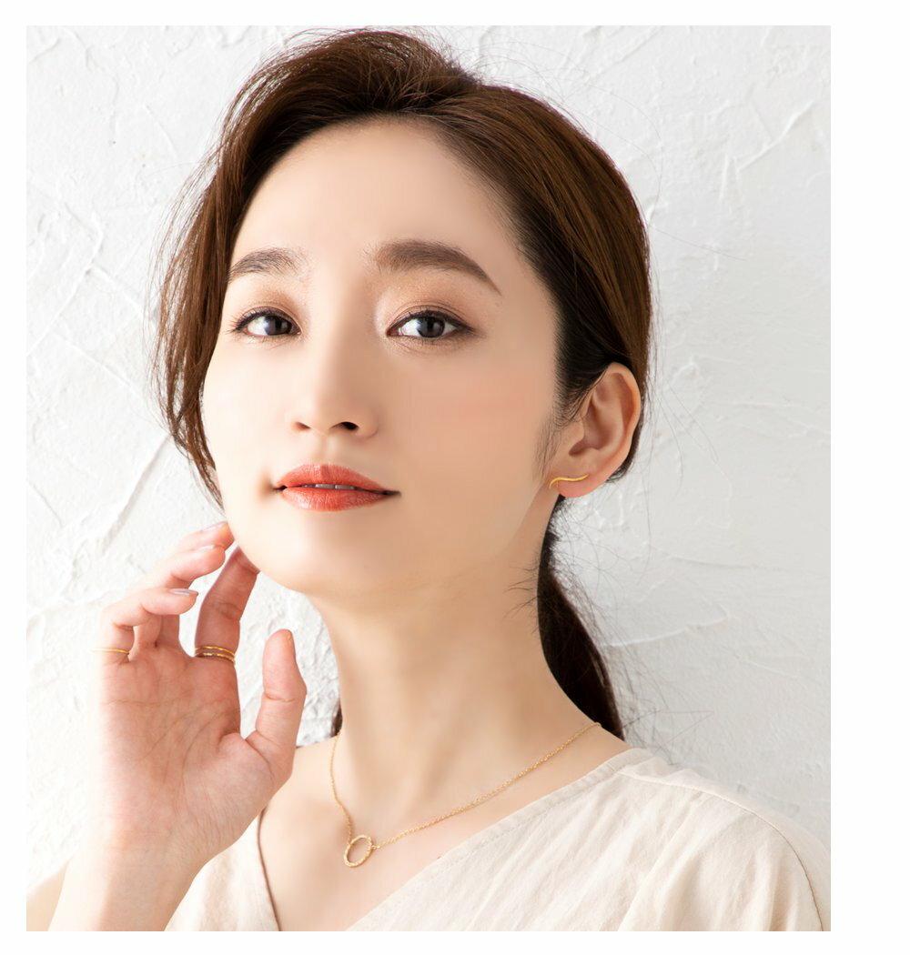 日本Cream Dot  /  經典流線型穿孔耳環  /  p00002  /  日本必買 日本樂天代購  /  件件含運 1