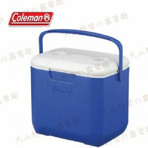 【露營趣】中和安坑 Coleman CM-27861 28L Excursion 海洋藍冰箱 手提冰桶 露營冰桶 行動冰箱 野餐籃