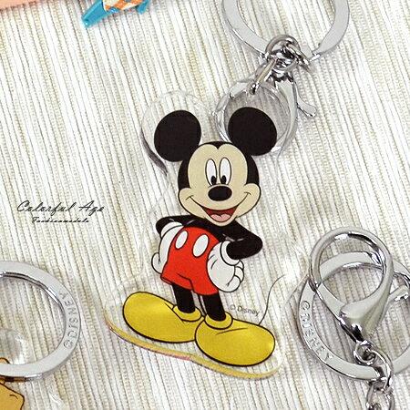 鑰匙圈 正版迪士尼Disney系列 米奇 米妮 維尼 史迪奇 奇奇蒂蒂 小飛象 柒彩年代 NS16】單個