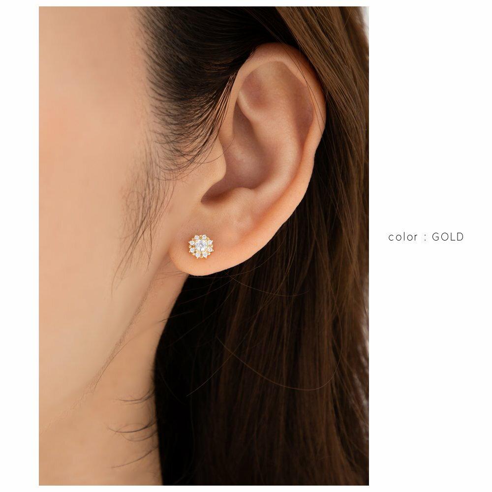 日本Cream Dot  /  花漾鋯石穿孔耳環  /  p00005  /  日本必買 日本樂天代購  /  件件含運 5