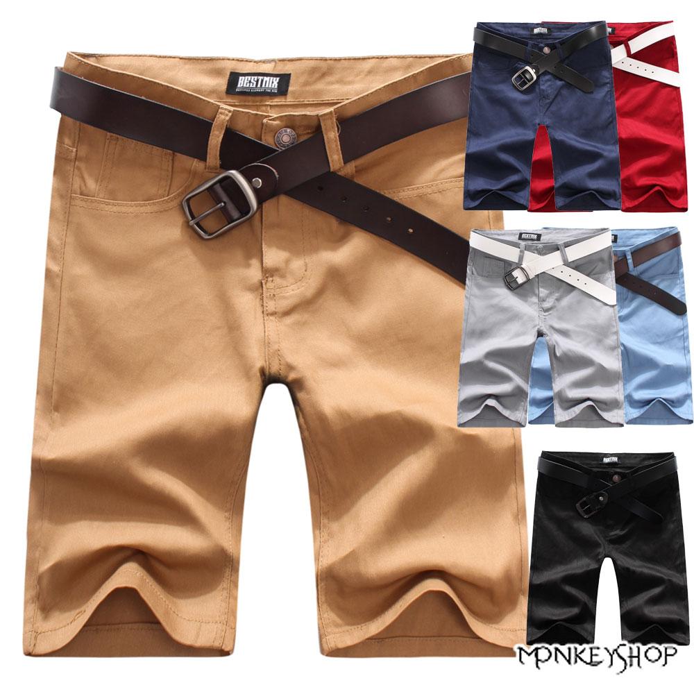 【BMQ3719】韓版風格簡約素面休閒短褲-6色 有加大尺碼《Monkey Shop》
