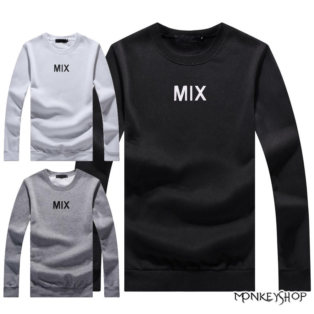 【BMT5871】MIT台灣製不起毛球 電繡MIX長袖刷毛大學Tee-3色《Monkey Shop》