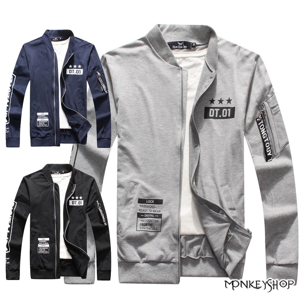【M70051】潮流推薦款MA-1美式潮流飛行夾克字母外套-3色《Monkey Shop》