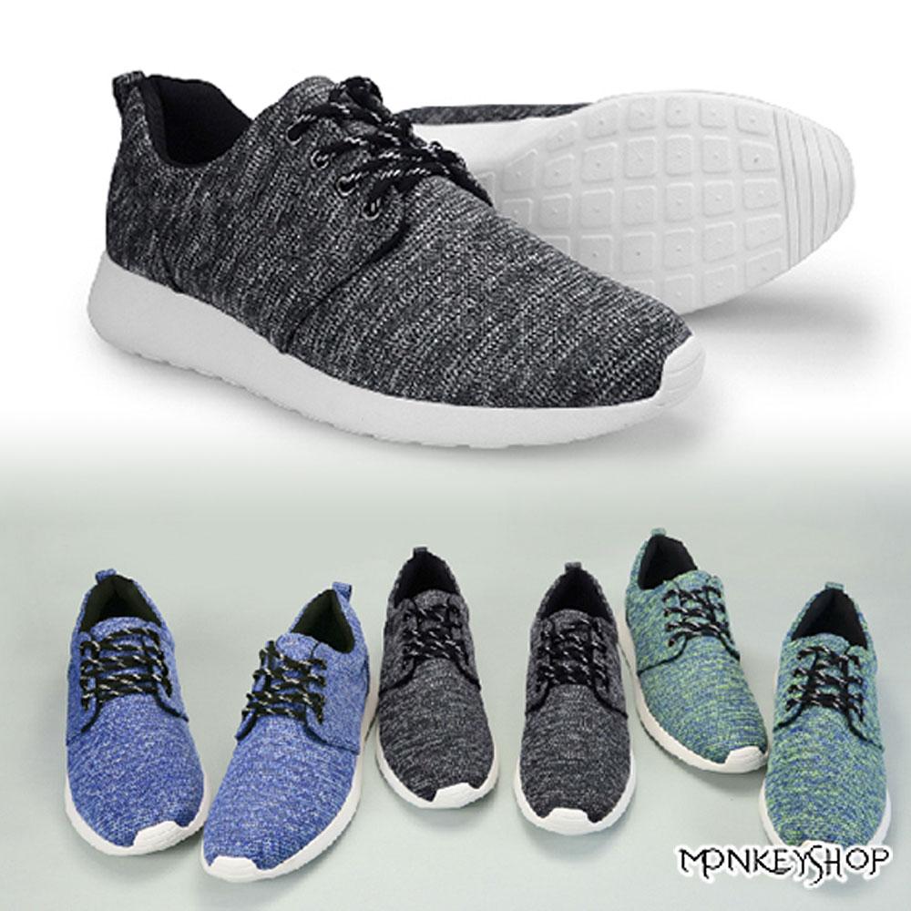 【RP75】 韓版同步休閒風 混色質感織紋慢跑鞋 就愛MIT台灣製 3色《Monkey Shop》