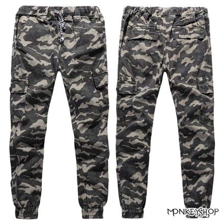 【BJK3452】 彈性百搭顯瘦迷彩軍裝束腳工作休閒褲JOGGER PANTS《Monkey Shop》