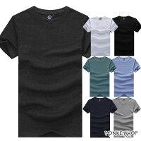 【BMT0003】MIT純綿好感度圓領多彩色系素面短袖T恤-7色《Monkey Shop》-Monkey Shop-潮流男裝推薦