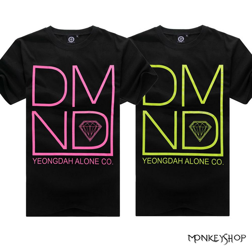 【BMT4987】MIT純綿潮流彩DMND鑽石印花設計短袖T恤-2色《Monkey Shop》