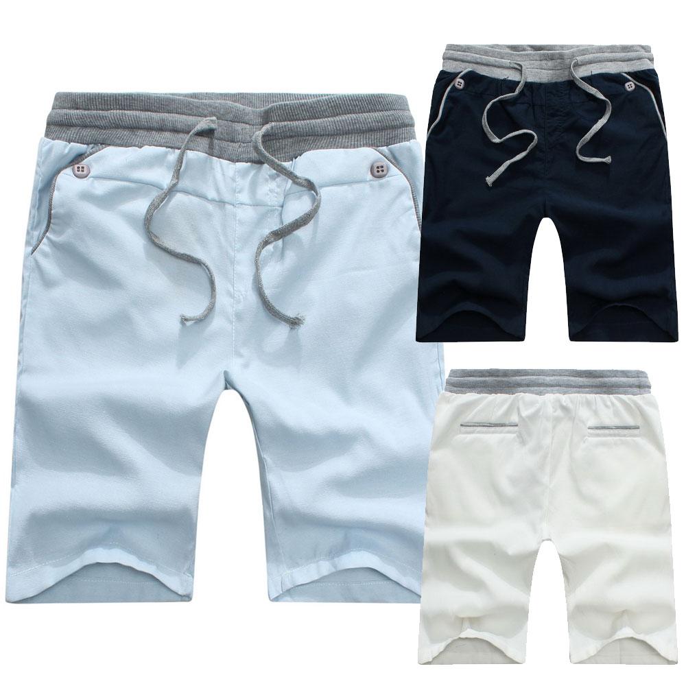 【BSN3087】彈性螺紋抽繩純棉休閒百搭運動棉褲短褲五分褲-3色《Monkey Shop》