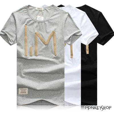 【BSN3288】韓式簡約創意款麻線IM英文設計短袖T恤-3色《MonkeyShop》