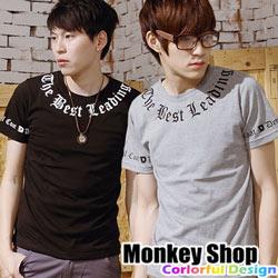 ~Monkey Shop~~C30009~古羅馬字體 民族風MIT純棉短袖T恤~三色