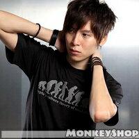《Monkey Shop》翻玩創意KUSO 猿人進化成宅男 圖案設計短袖T恤 2色