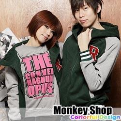 《Monkey Shop》【JB9158】ROIAL日韓潮流 重磅數厚刷毛 R字立領連帽棒球外套 情侶裝4色