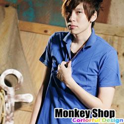 《MonkeyShop》【LQL001】嚴選時尚單品潮流指標百搭款網眼棉質POLO衫-共八色