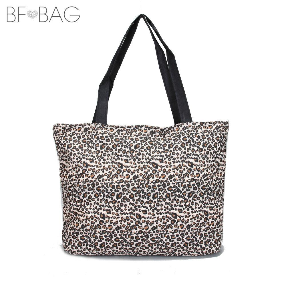 【B.F.】歐美時尚大容量豹紋托特包(炭燒咖)