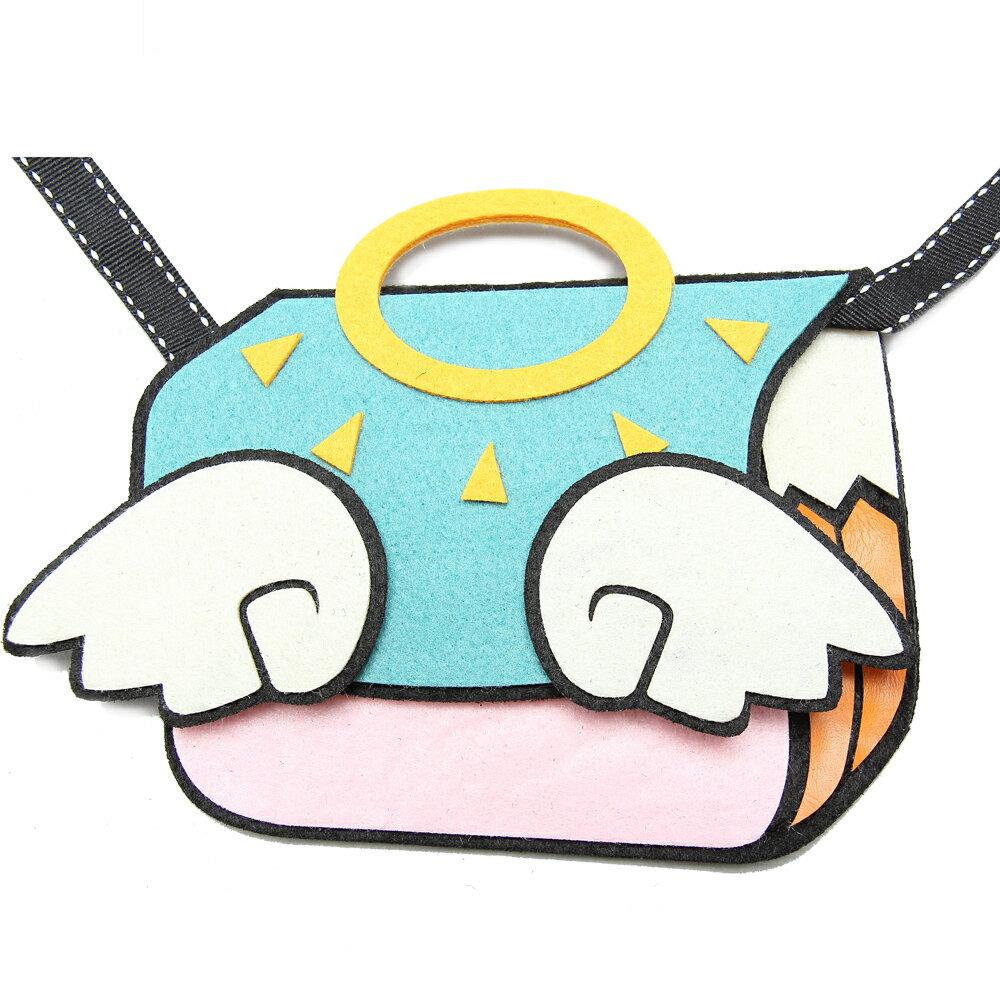 【B.Qute】小天使包造型斜背童包(氣質粉)