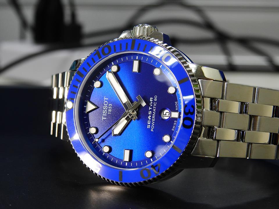 TISSOT 天梭 T1204071104100 Seastar 1000 海洋之星300米潛水機械錶 藍 43mm 7