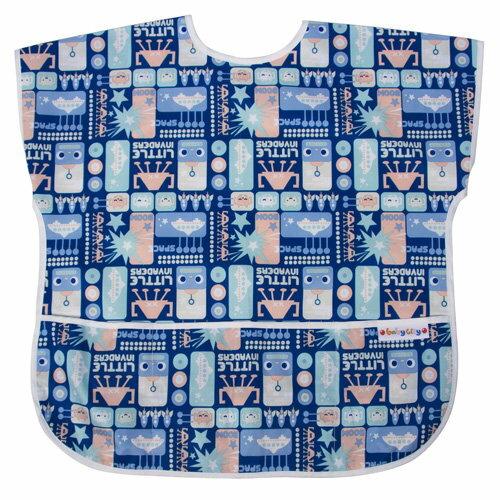 Baby City娃娃城 - 防水短袖畫畫衣(3-5A) 藍色機器人 0