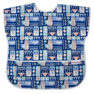 【點數下單送咖啡】Baby City娃娃城 - 防水短袖畫畫衣(3-5A) 藍色機器人