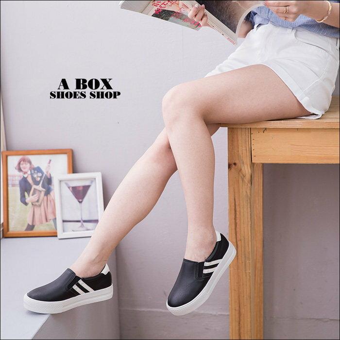 【KT8007】MIT台灣製 透氣皮革舒適柔軟乳膠墊 V口鬆緊穿拖 休閒鞋 懶人鞋 2色 1