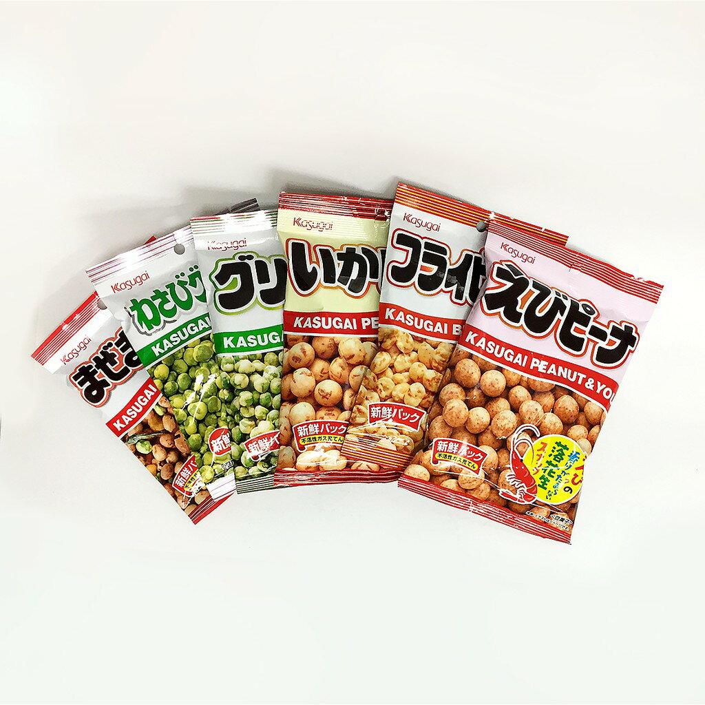 春日井Kasugai 青豆 / 山葵味青豆 / 墨魚花生 / 墨魚蠶豆 / 蝦子味花生 / 小魚乾綜合豆果子