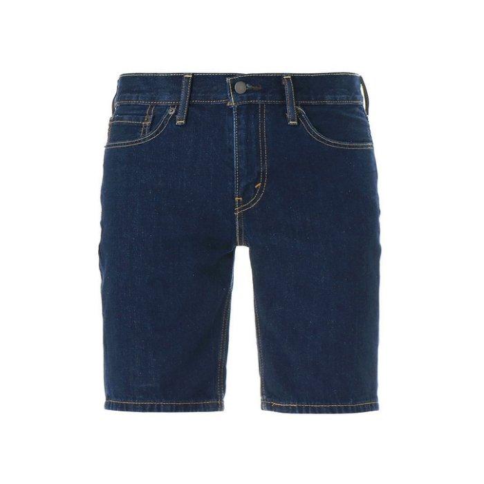 美國百分百【全新真品】Levis 511 牛仔 短褲 五分褲 牛仔褲 單寧 修身 深藍色 28 29 30 34 36腰 F576