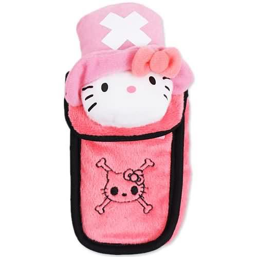 X射線【C298003】Hello Kitty x 航海王 手機套,美妝小物包/媽媽包/面紙包/化妝包/零錢包/收納包/皮夾/手機袋/鑰匙包
