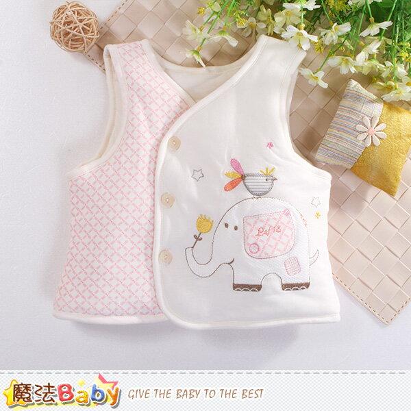 嬰幼兒背心外套 厚鋪棉絲絨保暖外套 魔法Baby~k60477