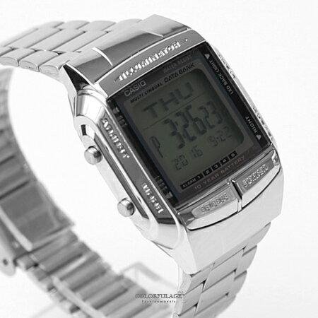 CASIO卡西歐 方形銀色電子手錶 柒彩年代【NEC7】