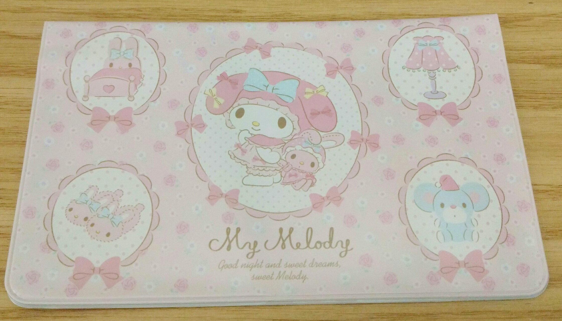 【真愛日本】17111700058 卡片存摺護套-美樂蒂 三麗鷗 melody 美樂蒂 存摺保護套