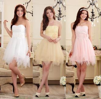 天使嫁衣【J2K9103】2色中大尺碼浪漫蜜月花蕾顯瘦不規則下擺美胸洋裝小禮服˙現貨特價