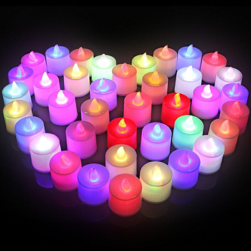 蠟燭燈 電子蠟燭 LED生日蠟燭求婚浪漫裝飾愛心形表白道具套餐仿真電子蠟燭燈一盒『CM43572』