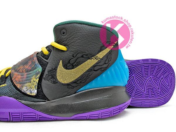 2020 Kyrie Irving 最新代言鞋款 NIKE KYRIE 6 VI GS CNY 大童鞋 女鞋 黑紫黃 農曆新年 歐文 籃球鞋 (CQ5820-001) 0120 3